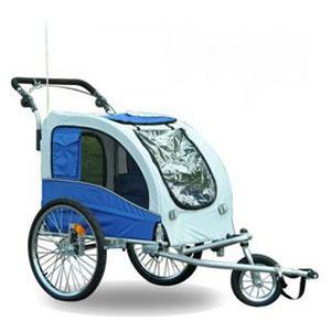 Aosom-Elite-II-Pet-Dog-Bike-Bicycle-Trailer-Stroller-Jogger-w-Suspension